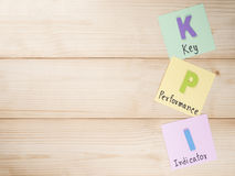 Key Performance Indicator 23. KPI (Key Performance Indicator) on notepaper with wood background (Business concept Stock Photos