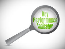key performance indicator magnify glass Stock Photo