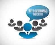 Key performance indicator people illustration Stock Photo
