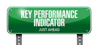 Key performance indicator road sign illustration Stock Image
