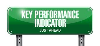 key performance indicator road sign illustration Stock Image