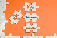 Key Performance Indicator Text - Business Concept Royalty Free Stock Photo