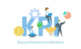 Free Key Performance Indicators, KPI. Concept With Keywords, Letters And Icons. Flat Vector Illustration On White Background. Stock Photography - 133229772
