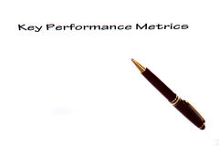 Key Performance Metrics. Key performance metric checklist with pen and copy space Stock Photography