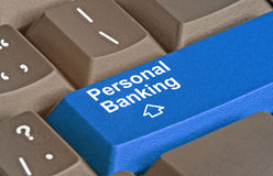 Key for Personal Banking. Keyboard with key for Personal Banking Stock Photography