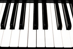 Key piano. A keyboard ready to be played Stock Photos