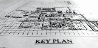 Key plan royalty free stock image
