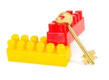 key plastic toy för block Fotografering för Bildbyråer
