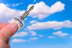 Key pointiing to the Sky Stock Images