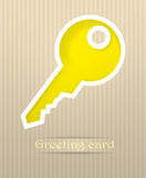 Key postcard illustration Royalty Free Stock Photography