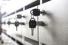 Key with private mailbox Royalty Free Stock Photos