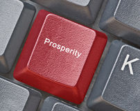 Key for prosperity. Keyboard with Key for prosperity royalty free stock images