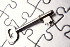 Key on puzzle Stock Images