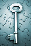 Key on puzzle Stock Photography