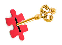 Key and puzzle Stock Photography