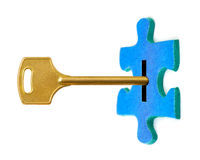 Key and puzzle Royalty Free Stock Image