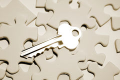 Key on puzzle Royalty Free Stock Images