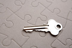 Key on puzzle Royalty Free Stock Image