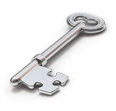 Key with puzzle Stock Photos