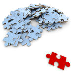 Key puzzle piece Stock Photography