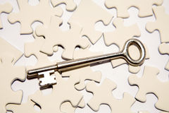 Key on puzzle pieces Stock Photography