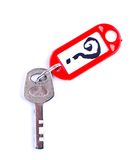 Key with a question Stock Images