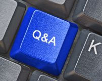 Key for questions and answers. Hot key for questions and answers Stock Image