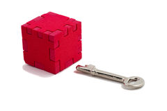 Key ready to open puzzle Royalty Free Stock Image