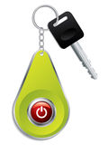 Key with red colored button on remote Stock Photo
