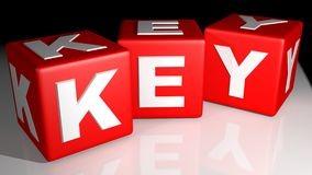 Key red cubes Stock Photo