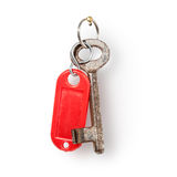 Key with red label Stock Photography