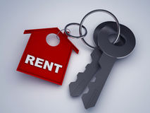 Key with rent home Stock Images