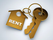 Key with rent house Stock Photo
