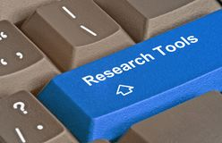 Key for research tool Stock Image