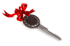 Key with ribbon Stock Photo