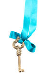 Key on ribbon Royalty Free Stock Photo