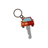 Key ring in car shape Royalty Free Stock Images