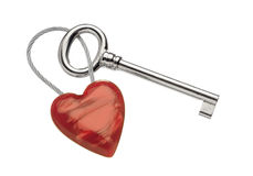 Key ring with heart Stock Images