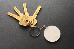 Key ring and keys stock images