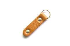 Key ring leather isolated on white background Royalty Free Stock Images