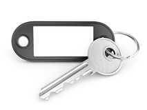 Key ring with plank copy space Stock Photos