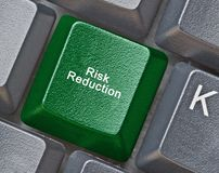 Key for risk reduction Stock Photos