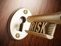 Key with risk word Royalty Free Stock Photo