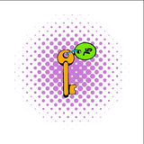 Key room comics icon. Key to the room comics icon  on a white background Stock Image