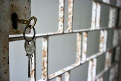 key rostigt för galler Royaltyfria Foton