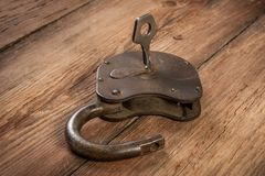 Key and rusty lock Royalty Free Stock Images