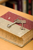 Key from safe deposit box Royalty Free Stock Photo