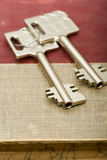 Key from safe deposit box Royalty Free Stock Photography