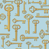 Key seamless background. Vintage collection Stock Image
