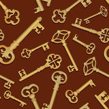 Key seamless background. Vintage collection Royalty Free Stock Image